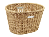 Electra Basket Plastic Woven Light Brown