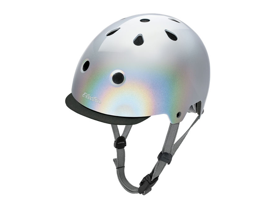 Electra Helmet Lifestyle Lux Holographic Large Silver CE
